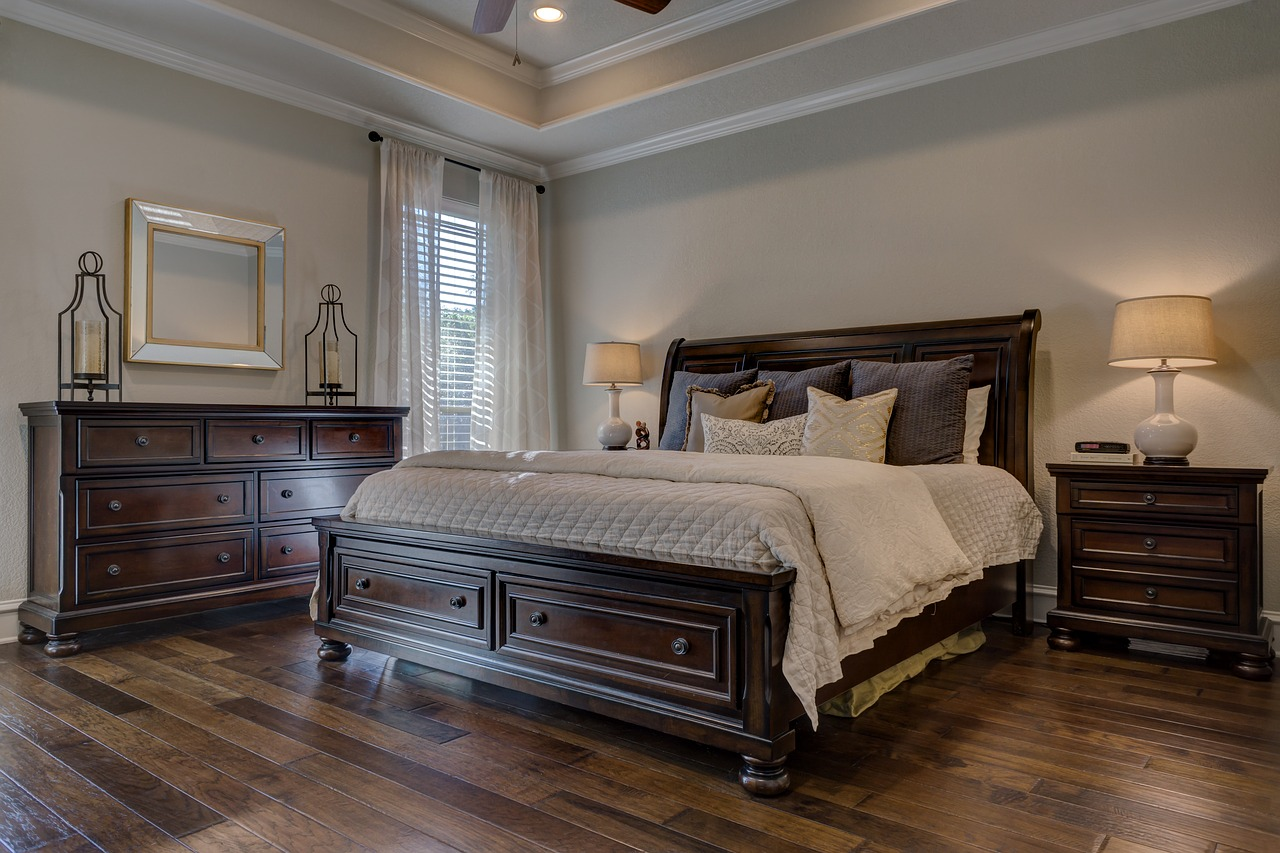 Funkcjonalna sypialnia.